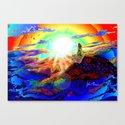 On a mountain top Canvas Print