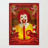 when ronald going wild Canvas Print