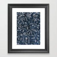 Metallic Floral Framed Art Print