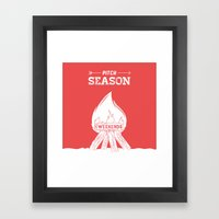 Pitch Season (Burning weekends) Framed Art Print