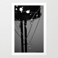 Crossing. Art Print