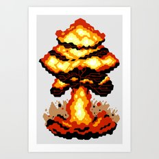 Digital Destruction Art Print