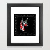 KOI X BANDANA Framed Art Print