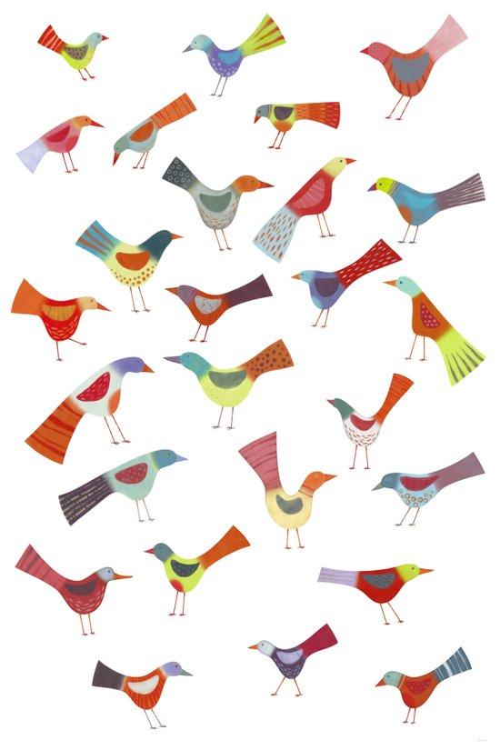 Birds doing bird things Art Print