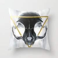 The Cat's Halo Throw Pillow