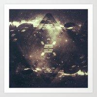 geometric starstruck. Art Print