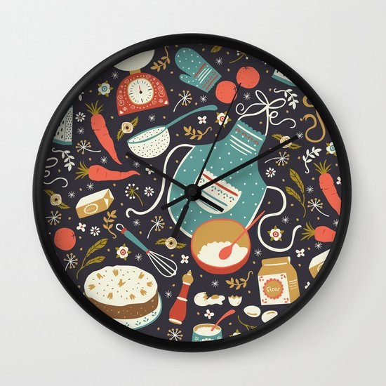 Carrot Cake Wall Clock