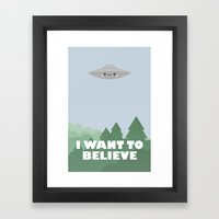 I want to believe jr. Framed Art Print