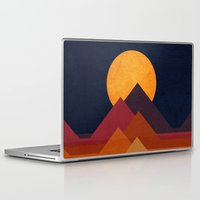 moon Laptop & iPad Skins featuring Full moon and pyramid by Picomodi
