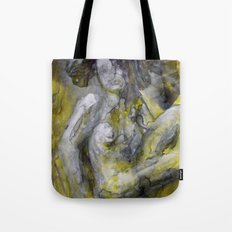 Nude in Yellow Tote Bag