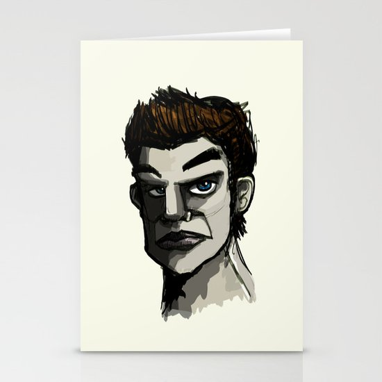 The Face Stationery Card