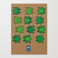 Revenge Of The Frogs Canvas Print