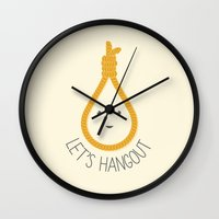 Let's Hangout Wall Clock
