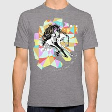 Comic Art: Wild Hearts Mens Fitted Tee Tri-Grey SMALL