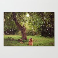 Polaroid Tree Canvas Print