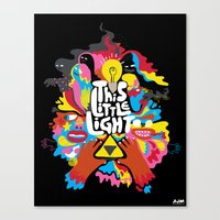 'This Little Light' Gicl… Canvas Print