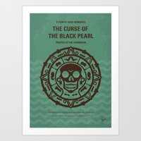 No494-1 My Pirates of the Caribbean I minimal movie poster Art Print