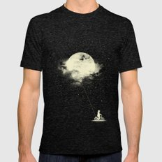 THE BOY WHO STOLE THE MOON Mens Fitted Tee Tri-Black SMALL
