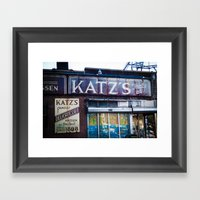 Katz's Framed Art Print