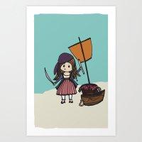 Pirate Hearts Art Print