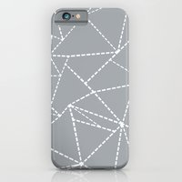 Abstract Dotted Lines Grey iPhone 6 Slim Case