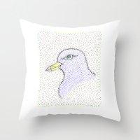 Dotted Bird #1 Throw Pillow