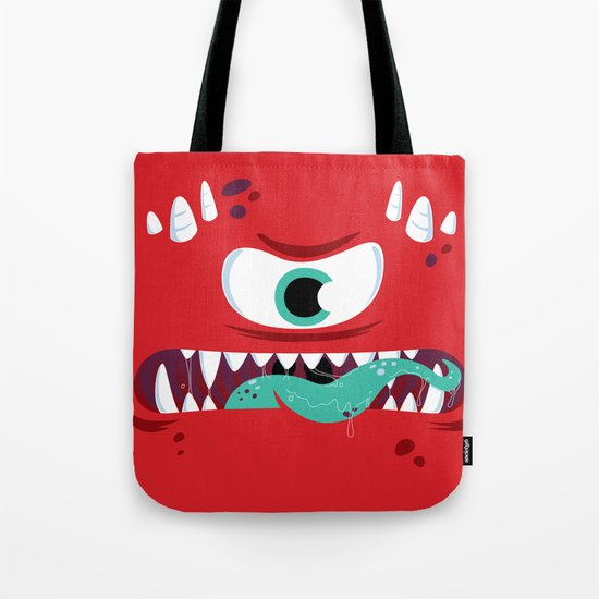 Baddest Red Monster! Tote Bag