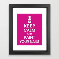 Keep Calm And Paint Your… Framed Art Print