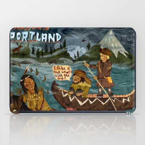 Postcard from Lewis + Clark iPad Case