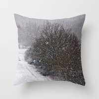 Snow Is Falling Throw Pillow
