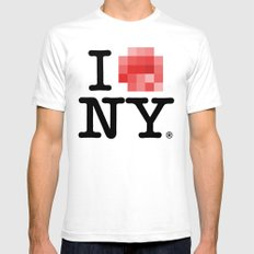 Censored Love Mens Fitted Tee SMALL White
