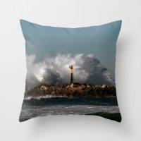 Blast Wave Throw Pillow