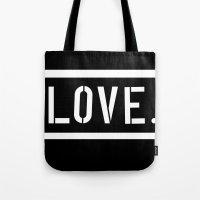 Love Stencil Tote Bag
