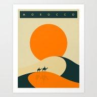 Morocco Travel Poster Art Print