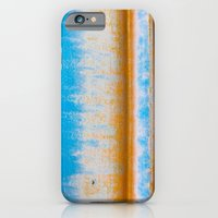 Blue, Yellow and two lines iPhone 6 Slim Case
