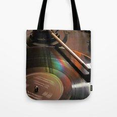 Vinyl Rainbow Tote Bag