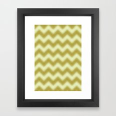 Chevron Gold Berry Framed Art Print