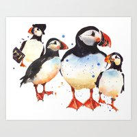 Puffin Painting, Bird Ar… Art Print