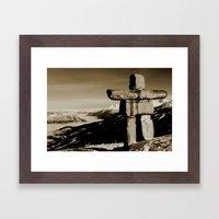 Whistler Inukshuk Framed Art Print