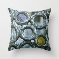 Bubbles on the Metro (detail) Throw Pillow