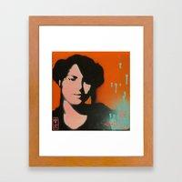 Orange Sugoi~ Framed Art Print