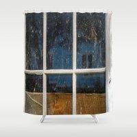 6 panes  Shower Curtain