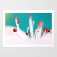cherry blossom Art Prints featuring Cherry Blossom by Sharon Johnstone