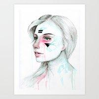 Woman viii. Art Print