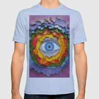 Rainbow Burn Mens Fitted Tee Athletic Blue SMALL
