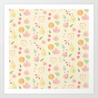 Fruit and Flora Art Print