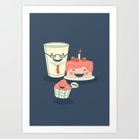 Oh! my sweet little cupcake. Art Print