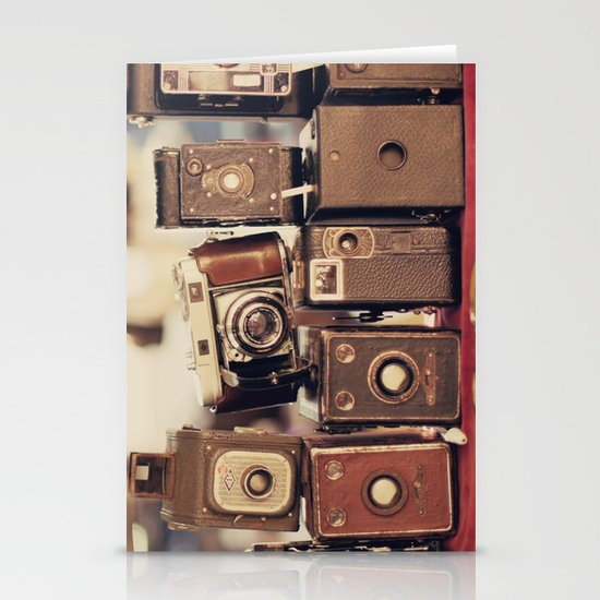 Old Cameras (Vintage and Retro Film Cameras Collection) Stationery Card