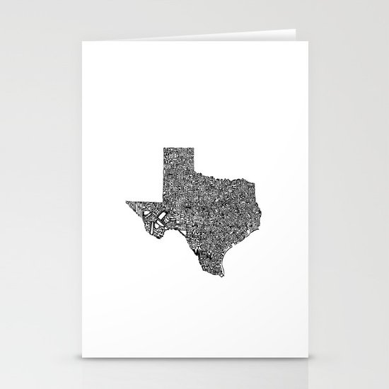 Typographic Texas Stationery Card
