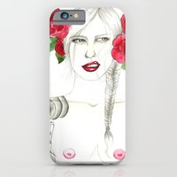 iPhone & iPod Case featuring Roses & tattoo by Camis Gray